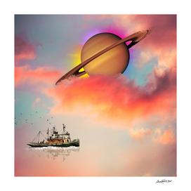 Tuging Around Saturn