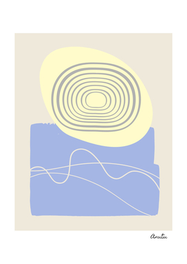 Sunny Ocean Abstract Pastel