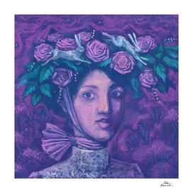Midusmmer Hat, Summer Fantasy, Imaginary Portrait