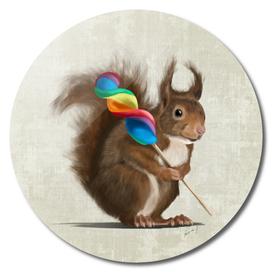Squirrel with lollipop
