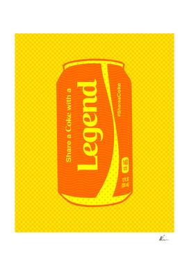 Share a Coke with a Legend | Pop Art