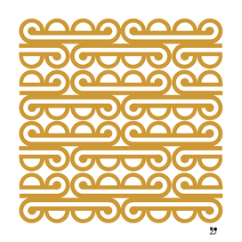 Golden yellow geometric pattern