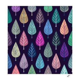 Watercolor Forest Pattern V