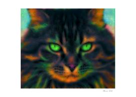 Stunning Green Eyes Pop Art Pet Cat