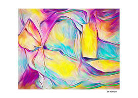 Bright Bold and Feminine Abstract
