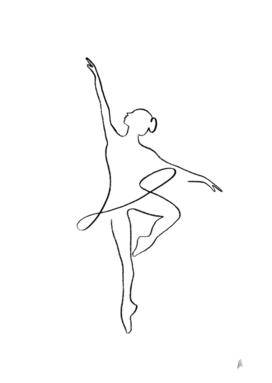 Ballerina Line Art