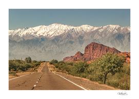 Empty Highway Landscape, La Rioja, Argentina