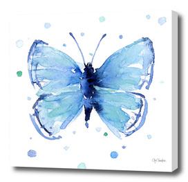 Blue Butterfly Watercolor