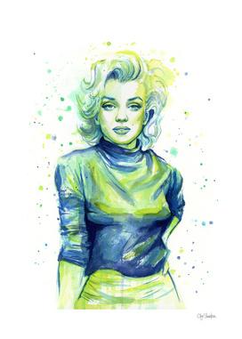 Marilyn Monroe Watercolor