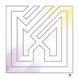 Abstract purple art modern geometric