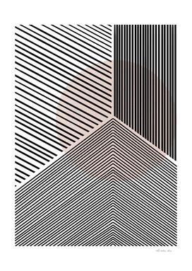 Blush Geometric Line Drawing
