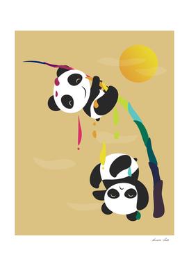 Pandas meet a strange rainbow