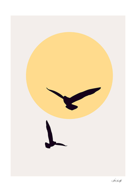 Birds In The Sky - YELLOW