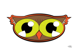 Cartoony Owl Face
