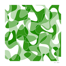 Abstract pattern - green and white.