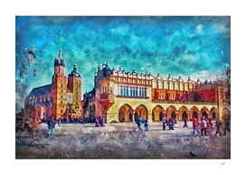 Cracow Main Square Old Town