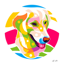 The Colorful Golden Retriever Dog
