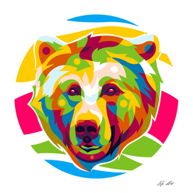 The Colorful Grizzly Bear