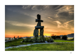 Vancouver Inuksuk Sunset