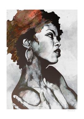 Miseducation red | Lauryn Hill tribute portrait