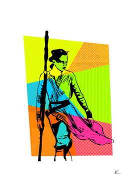 Rey | The Force Awakens | Pop Art