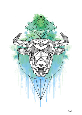 Animal Collection (Bull Watercolor)