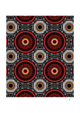 Tribal Aztec Mandala Art