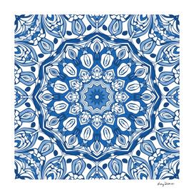 Indigo Blue Mandala 02