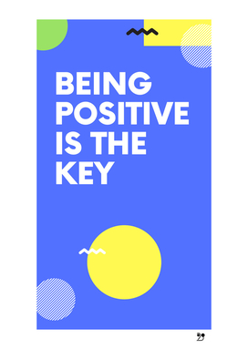 Quotes Positive modern geometric blue