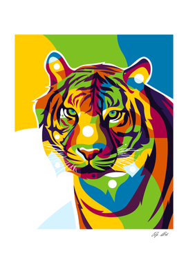 The Colorful Tiger Face