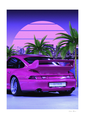 80s Porsche cars midnight outrun