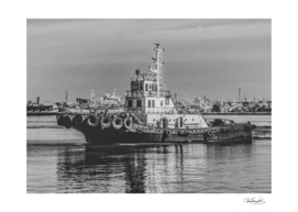 Tugboat at Port, Montevideo, Uruguay