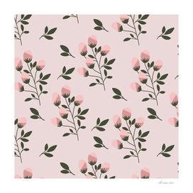 Pink Wildflowers Pattern