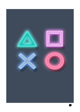 Glow Playstation Button