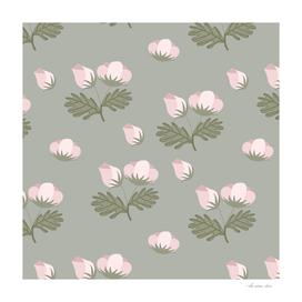 Sage Bloom Flowers Pattern
