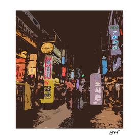 Nightlife in japan