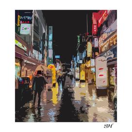 Seoul city nightlife
