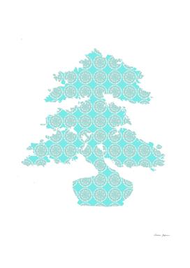 Light Blue Mandala Bonsai