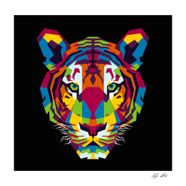 The Colorful Tiger Head