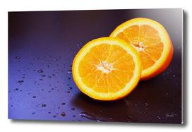 Sliced fresh orange