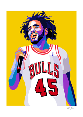 J Cole Poster Art Print, Wall Art Decor, Pop Culture Prints
