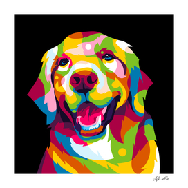 The Colorful Golden Retriever Dog Pop Art Portrait