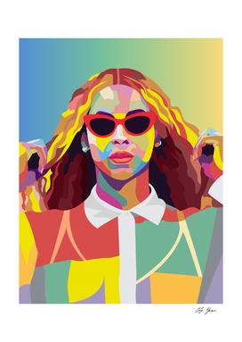Beyonce Music Poster Art Print, Pop Art, Music Icon Wall Art