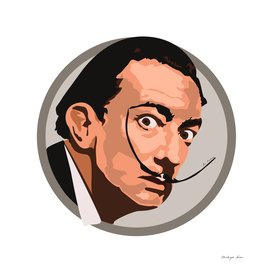 Portrait Salvador Dali