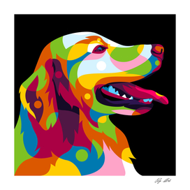 The Colorful Labrador Dog Inside Pop Art Style