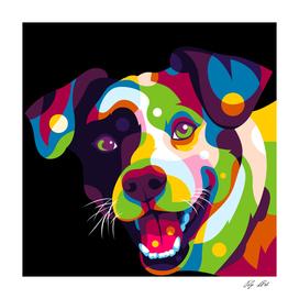 I Love Colorful Dog Portrait