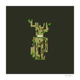 Marvel's Groot Voxel Art Poster