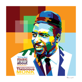 Thelonious Monk in WPAP Pop Art style