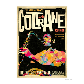 John Coltrane Retro Style