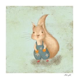 Woodland Nursery - Squirrel Illustration